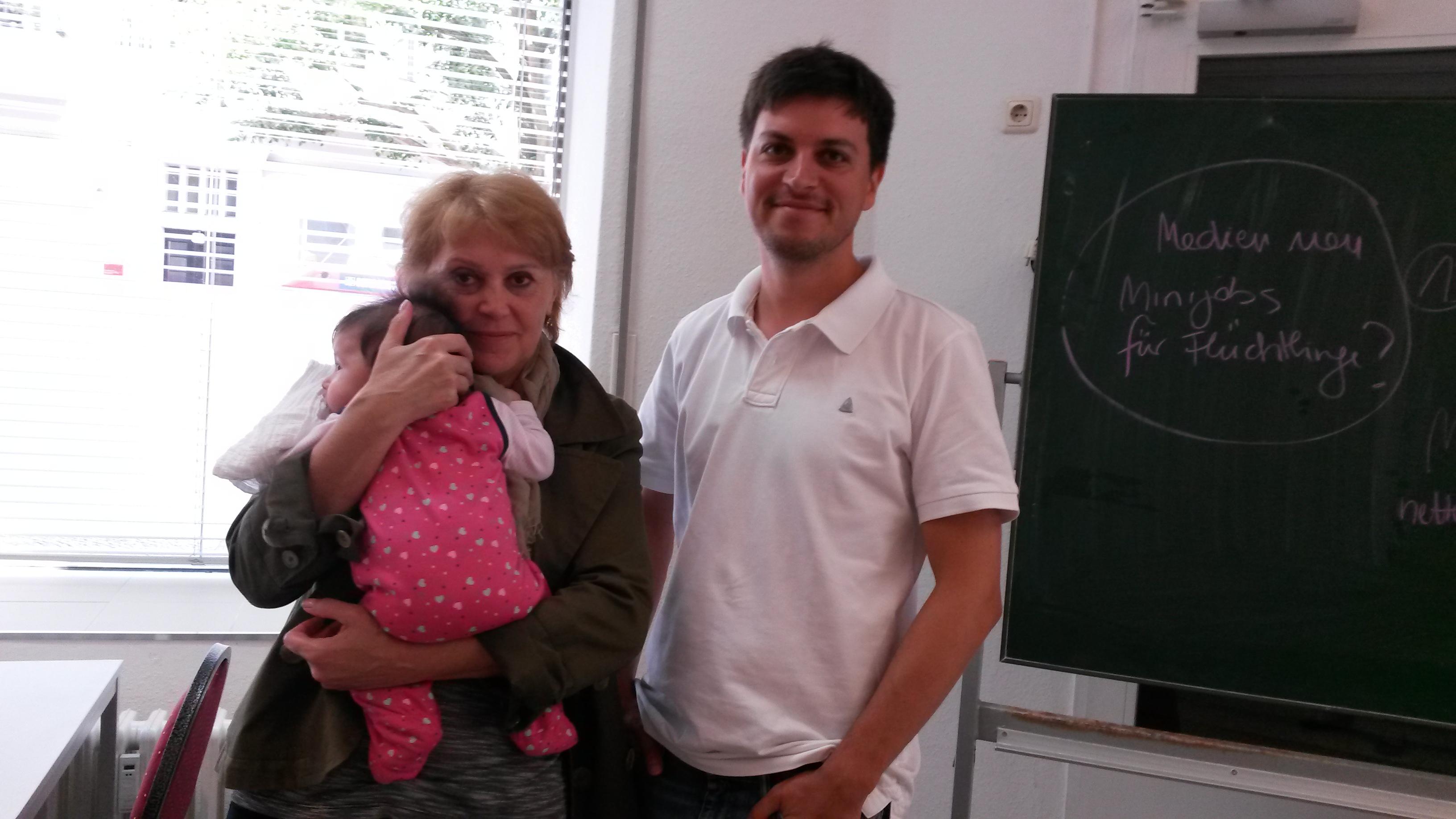 Christian Zander zu Besuch bei Frau Neu in der Katzlerstraße